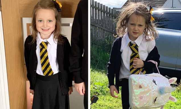 Учебный год в Шотландии уже начался. Мать одной первоклашки сделала снимки «до и после» своей дочери