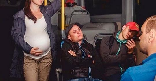 Беременная женщина в транспорте. Как всё обстоит на самом деле