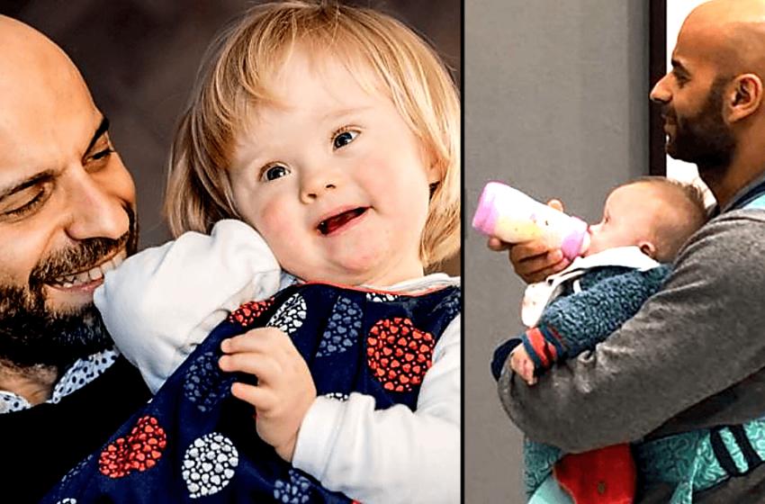 Мужчина нетрадиционной ориентации удочерил малышку с синдромом Дауна, от которой отказалась родная мать