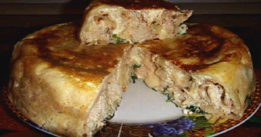 Несладкий пирог на кефире: просто, быстро, вкусно